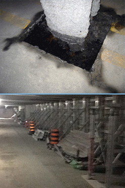 Photo of Underground Concrete Parking Garage Column Deterioration Repairs
