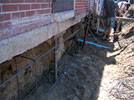 Sump pit and pump